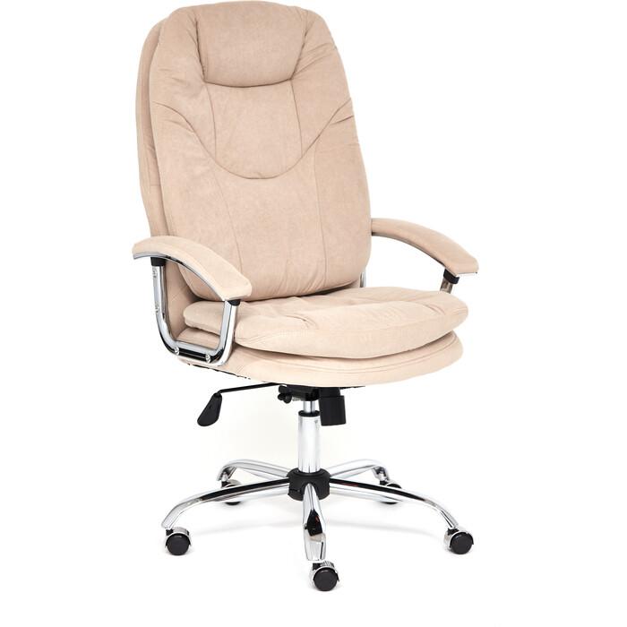 Кресло TetChair Softy Lux флок бежевый 7