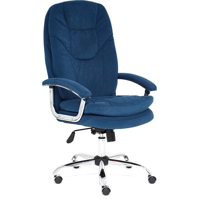 Кресло TetChair Softy Lux флок синий 32