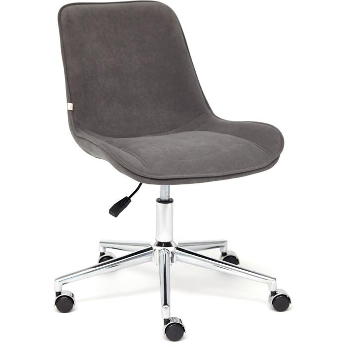 Кресло TetChair Style флок серый 29