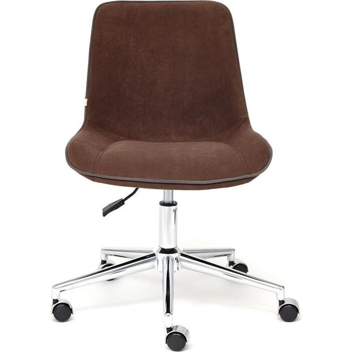 Кресло TetChair Style флок коричневый 6
