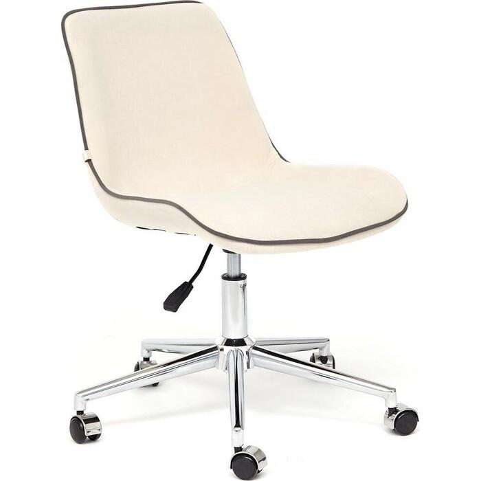 Кресло TetChair Style флок молочный 4