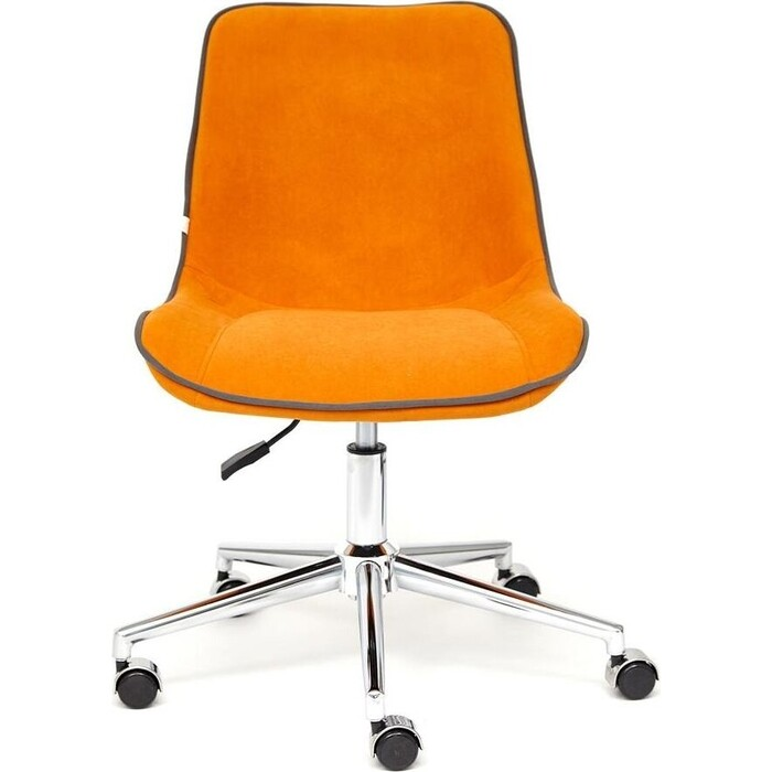 Кресло TetChair Style флок оранжевый 18