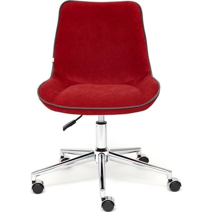 Кресло TetChair Style флок бордовый 10