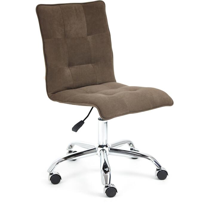 Кресло TetChair Zero флок коричневый 6
