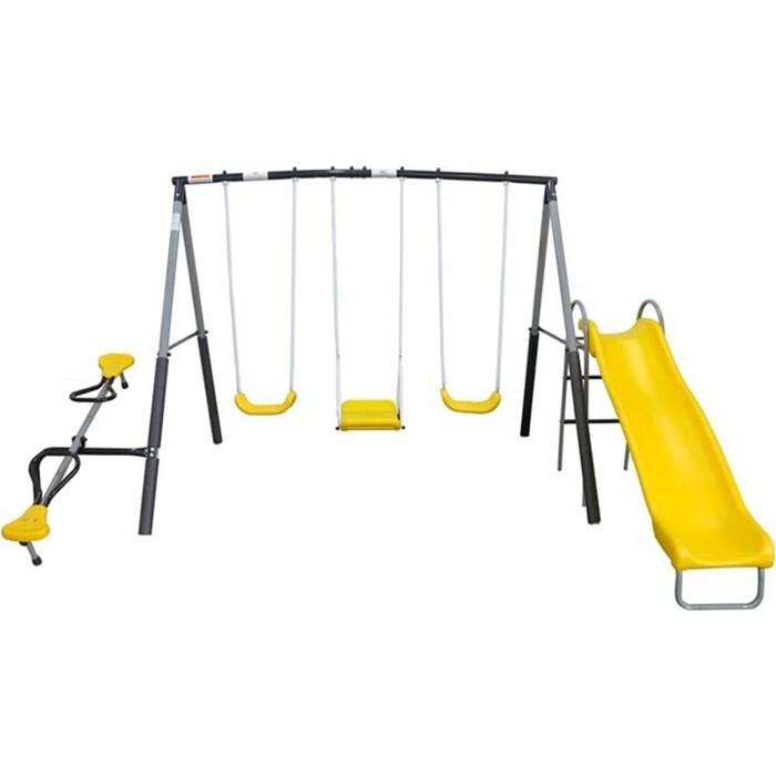 Фото - Детский комплекс DFC качели, качели-балансир и горка 74560 прыгунки ходунки и качели