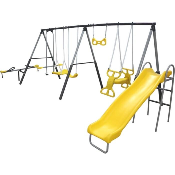 Фото - Детский комплекс DFC качели, качели-балансир и горка 76509 прыгунки ходунки и качели