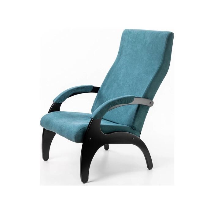 Кресло Мебелик Пиза ткань изумруд/каркас венге