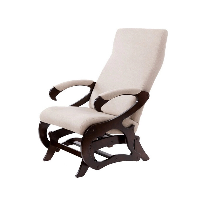 Кресло-слайдер Мебелик Верона б/вставки ткань серый/каркас орех