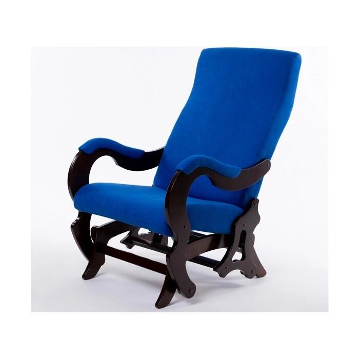 Кресло-слайдер Мебелик Палермо б/вставки ткань индиго/каркас орех