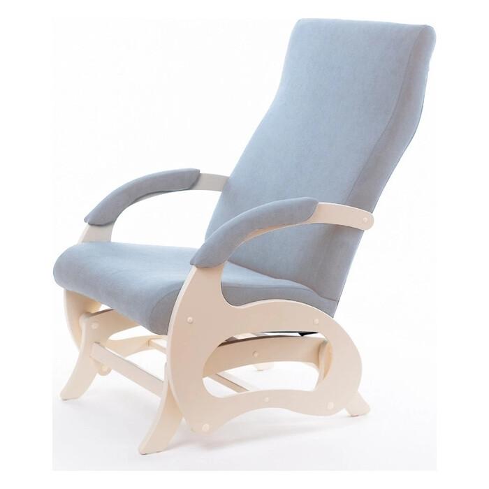 Кресло-слайдер Мебелик Пиза б/вставки ткань крем/каркас дуб шампань