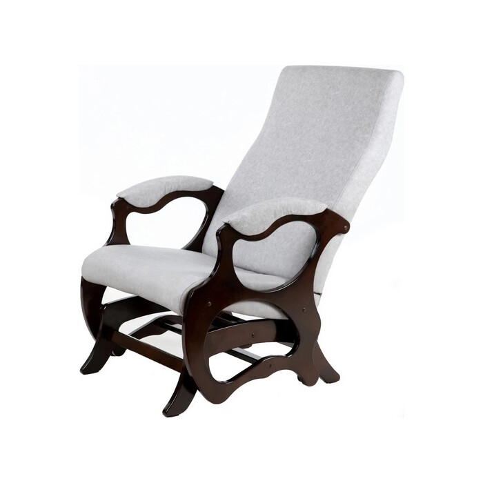 Кресло-слайдер Мебелик Санторини ткань серый/каркас орех