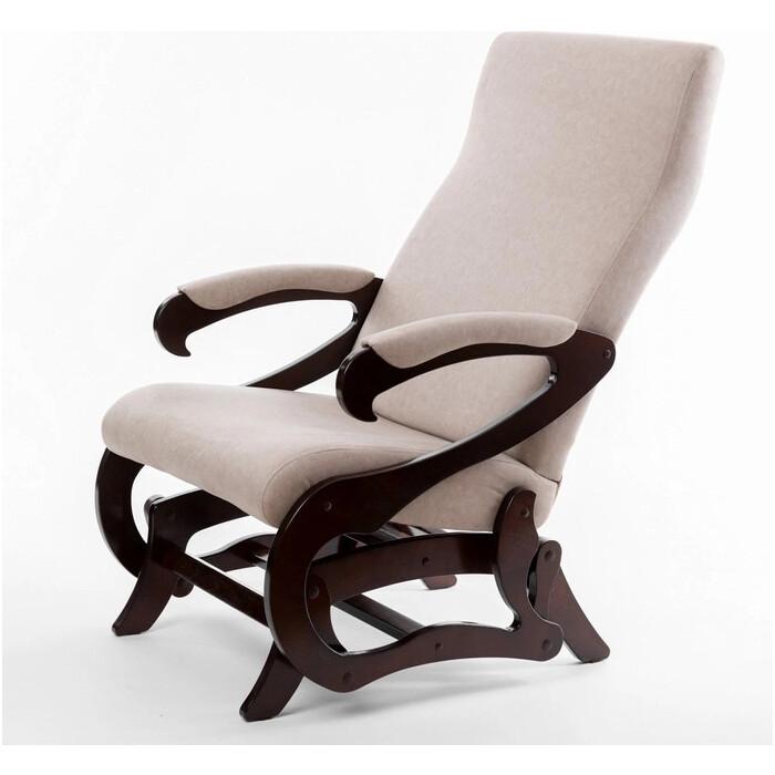 Кресло-слайдер Мебелик Сиена б/вставки ткань серый/каркас орех