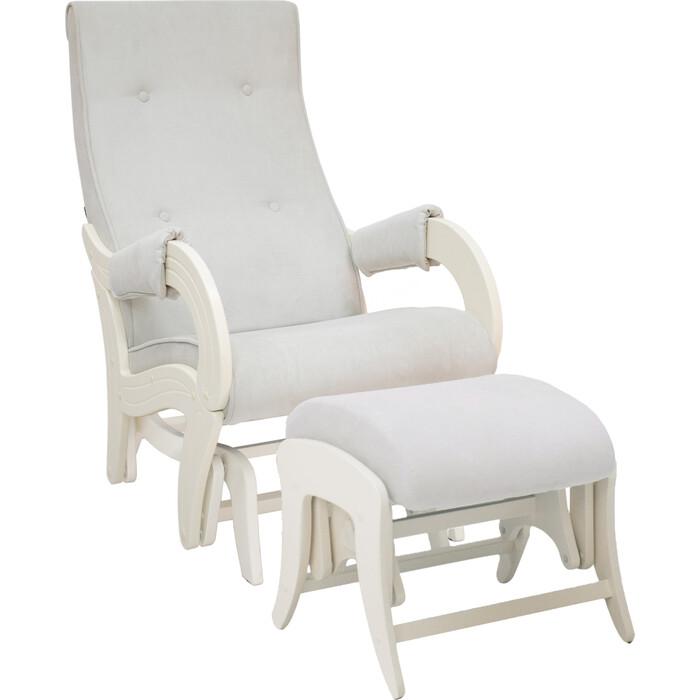 Milli Комплект Кресло для кормления и укачивания + пуф Ice дуб шампань, ткань Verona light grey