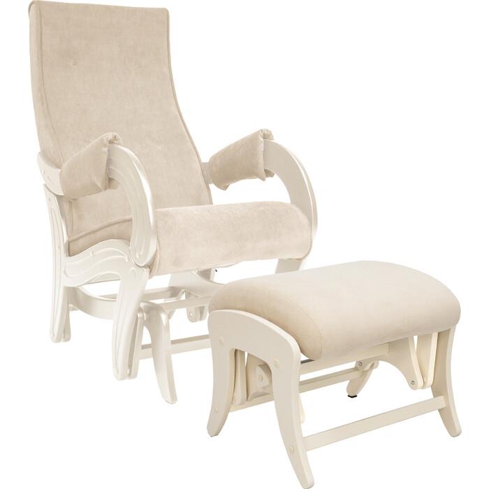 Комплект Кресло для кормления и укачивания + пуф Milli Ice дуб шампань, ткань Verona Vanila