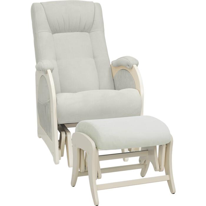 Milli Комплект Кресло для кормления и укачивания + пуф Joy дуб шампань, ткань Verona light grey