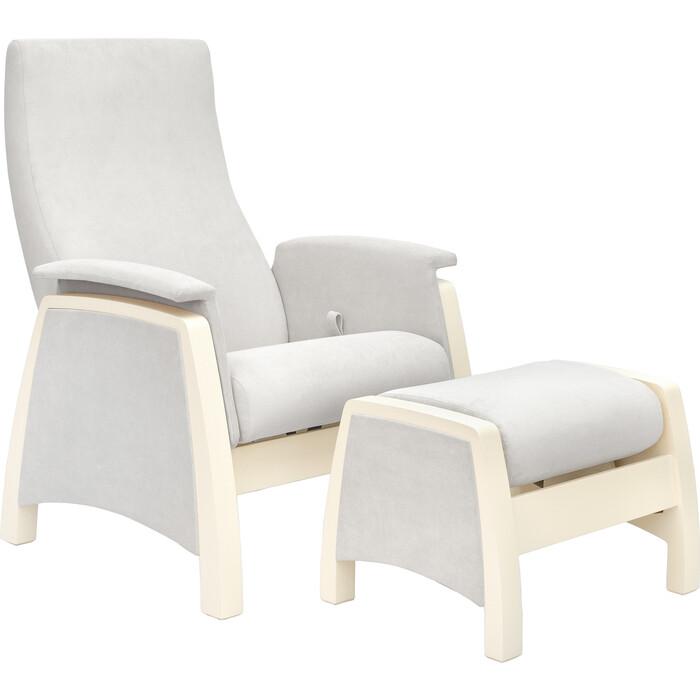 Milli Комплект Кресло для кормления и укачивания + пуф Sky дуб шампань, ткань Verona light grey