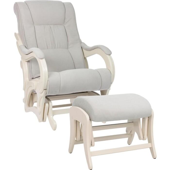 Milli Комплект Кресло для кормления и укачивания + пуф Style дуб шампань, ткань Verona light grey