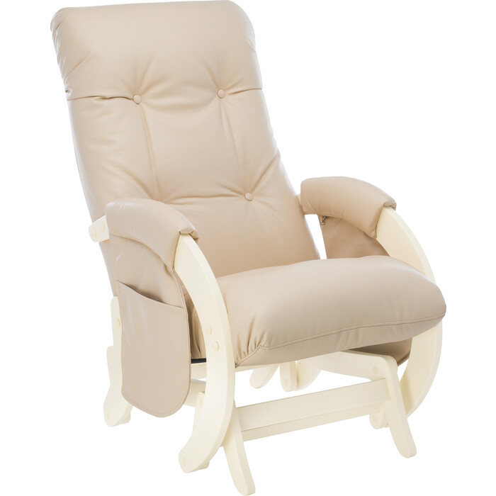 Кресло для кормления Milli Smile дуб шампань, к/з polaris beige с карманами