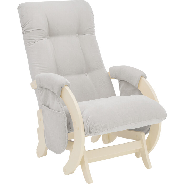 Кресло для кормления Milli Smile дуб шампань, ткань Verona light grey с карманами