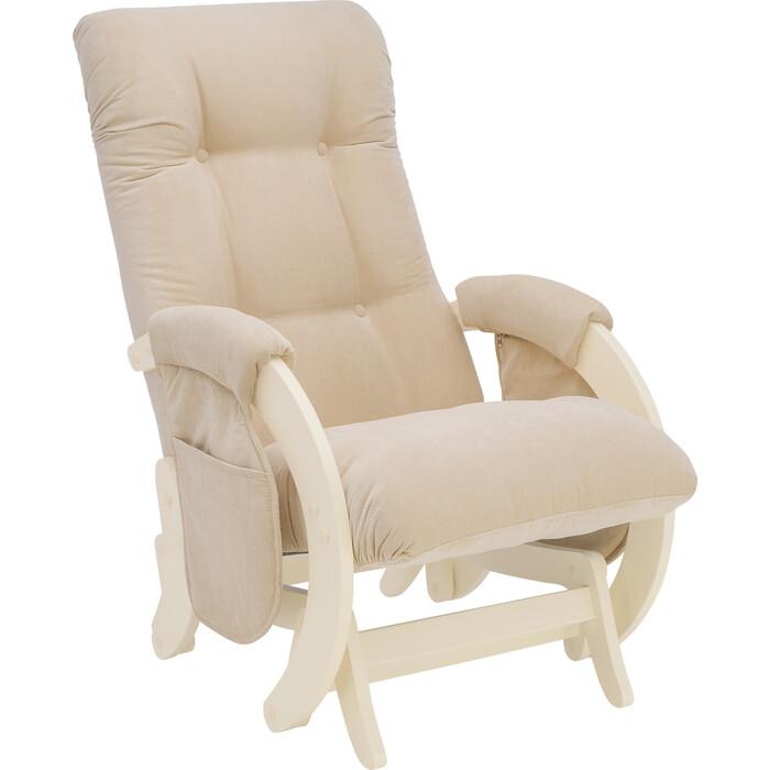 Кресло для кормления Milli Smile дуб шампань, ткань Verona vanilla с карманами