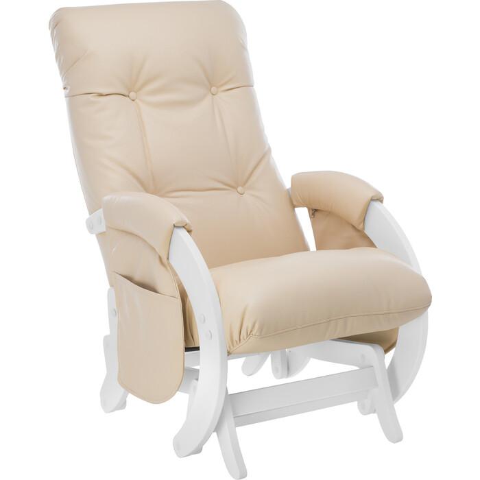 Кресло для кормления Milli Smile молочный дуб, к/з Polaris beige c карманами
