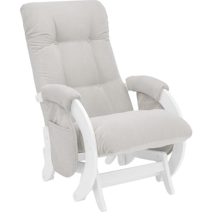 Кресло для кормления Milli Smile молочный дуб, ткань Verona light grey с карманами