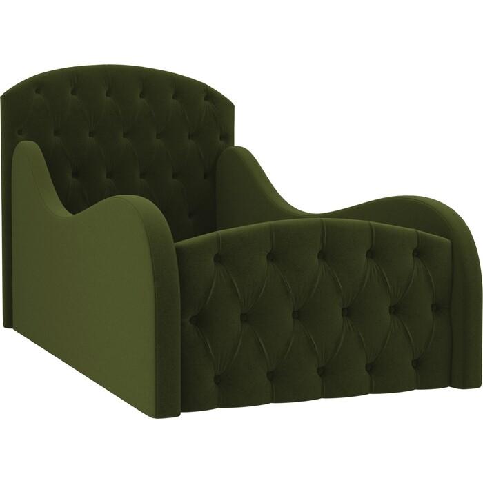 Детская кровать АртМебель Майя Люкс микровельвет зеленый
