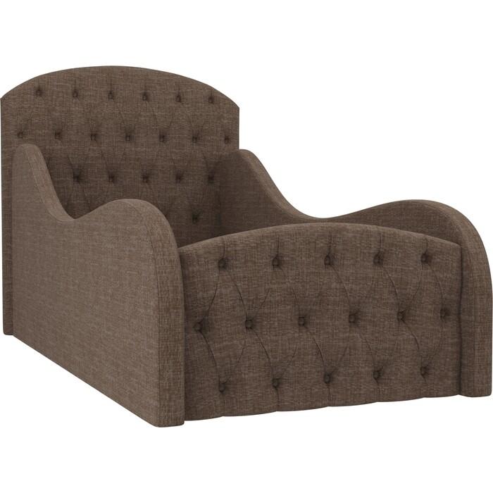 Детская кровать АртМебель Майя Люкс рогожка коричневый