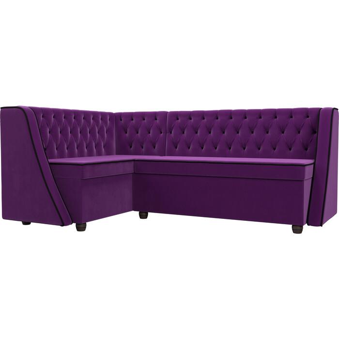 Фото - Кухонный угловой диван АртМебель Лофт микровельвет фиолетовый левый угол диван угловой артмебель николь микровельвет черный фиолетовый левый угол