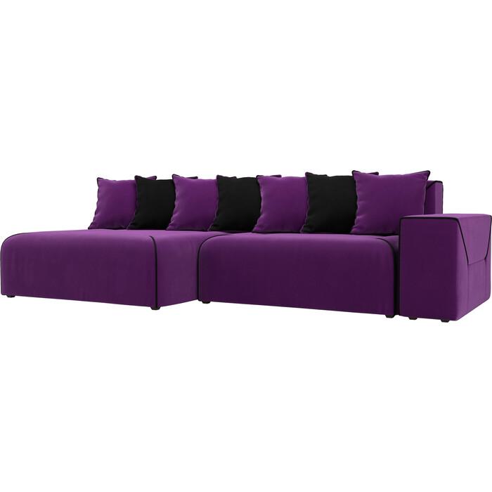 Фото - Диван угловой АртМебель Кёльн микровельвет фиолетовый левый угол угловой диван артмебель белфаст микровельвет фиолетовый левый угол