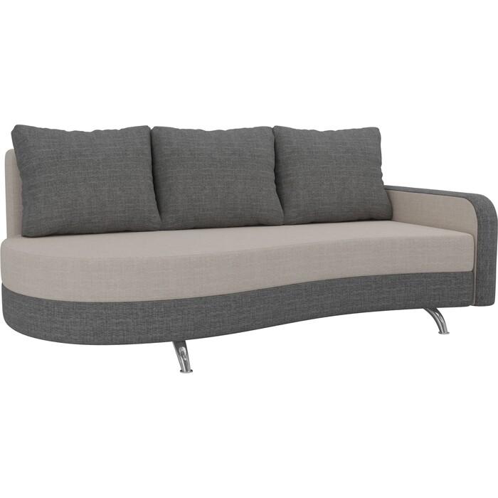 Фото - Диван прямой АртМебель Премьер рогожка бежевый серый правый диван прямой артмебель премьер рогожка коричневый бежевый левый