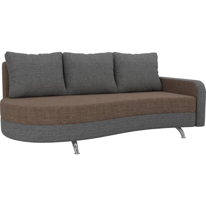 Фото - Диван прямой АртМебель Премьер рогожка коричневый серый правый диван прямой артмебель премьер рогожка коричневый бежевый левый