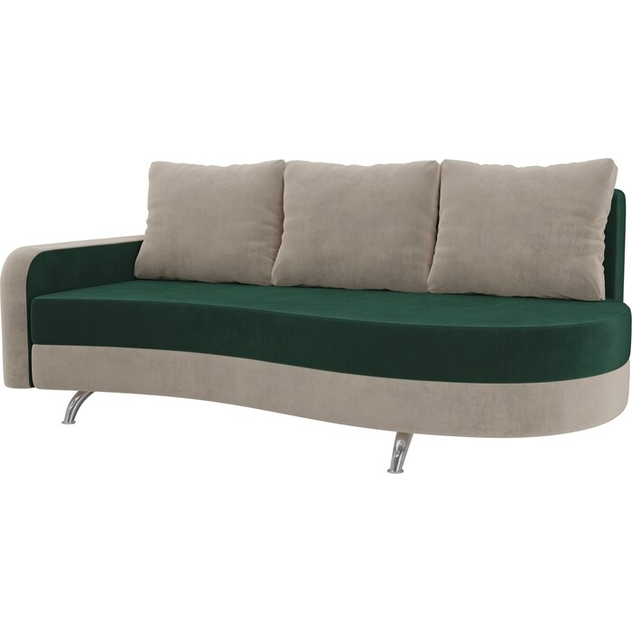 Фото - Диван прямой АртМебель Премьер велюр зеленый бежевый левый диван прямой артмебель премьер рогожка коричневый бежевый левый
