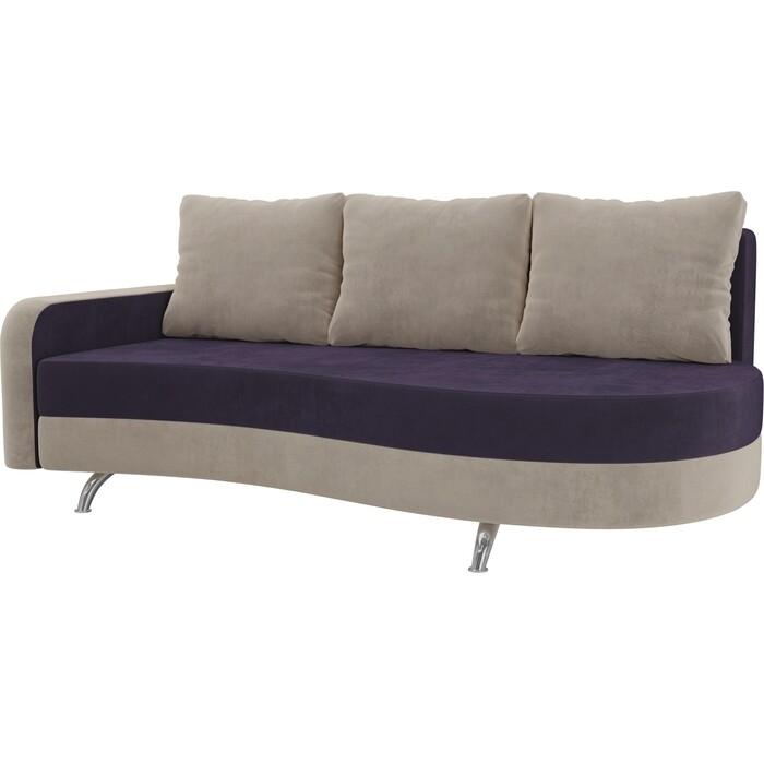 Фото - Диван прямой АртМебель Премьер велюр фиолетовый бежевый левый диван прямой артмебель премьер рогожка коричневый бежевый левый