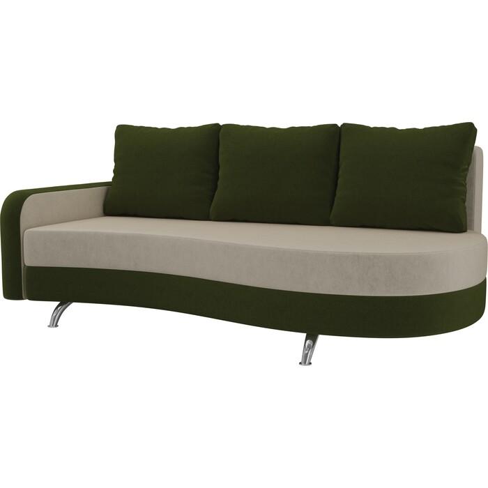 Фото - Диван прямой АртМебель Премьер микровельвет бежевый зеленый левый диван прямой артмебель премьер рогожка коричневый бежевый левый