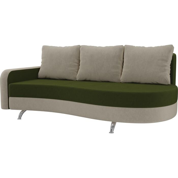 Фото - Диван прямой АртМебель Премьер микровельвет зеленый бежевый левый диван прямой артмебель премьер рогожка коричневый бежевый левый