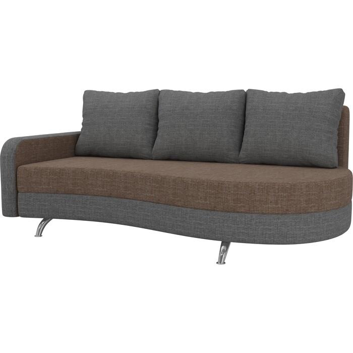 Фото - Диван прямой АртМебель Премьер рогожка коричневый серый левый диван прямой артмебель премьер рогожка коричневый бежевый левый