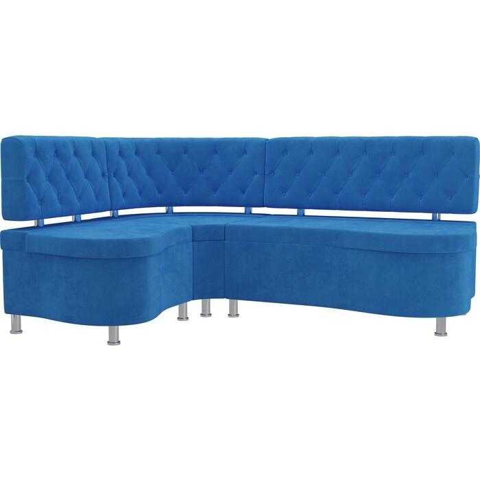 Кухонный угловой диван АртМебель Вегас велюр голубой левый угол кухонный угловой диван артмебель бронкс велюр голубой левый угол