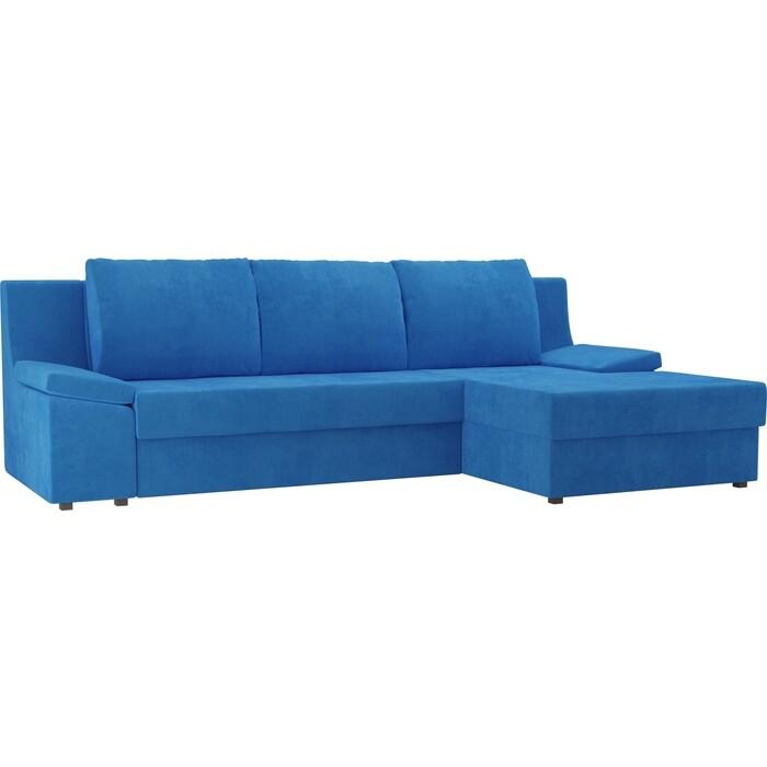 Диван угловой Лига Диванов Челси велюр голубой правый угол диван угловой лига диванов челси велюр черный правый угол