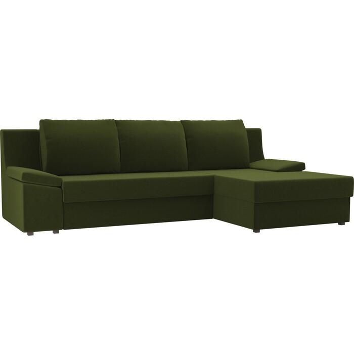Диван угловой Лига Диванов Челси микровельвет зеленый правый угол угловой диван лига диванов канзас микровельвет зеленый правый угол