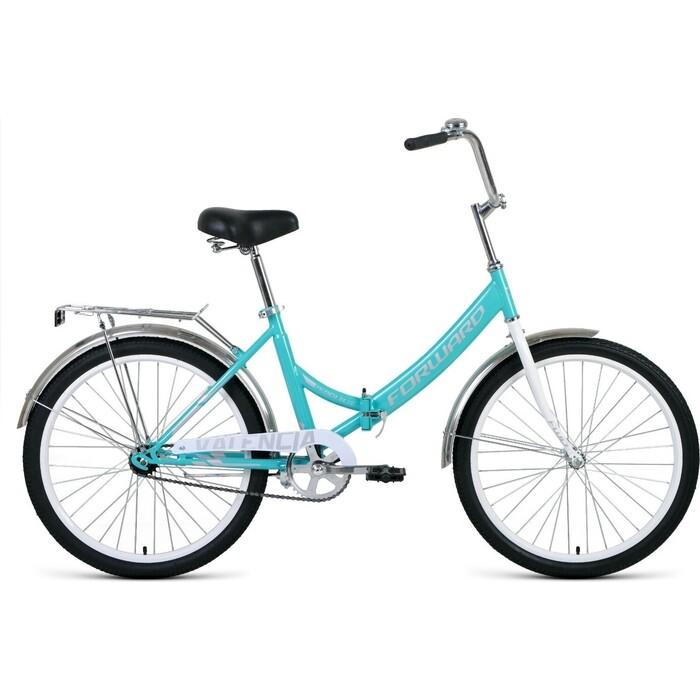 Велосипед Forward VALENCIA 24 1.0 (рост 16) 2020, мятный/серый