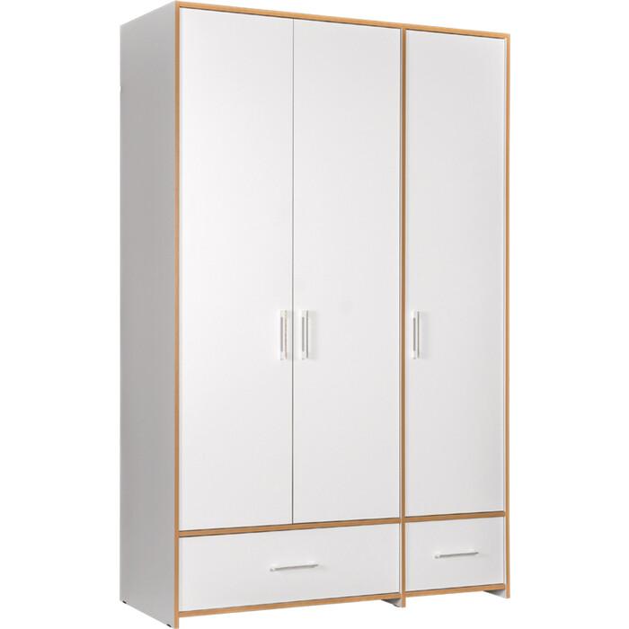 Шкаф для одежды Моби Вуди 10.77 белый премиум/дуб крафт золотой (не универсальная сборка) шкаф моби альба дуб золотой белый премиум пенал