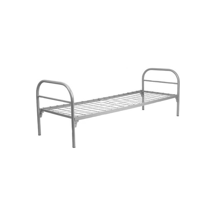 Кровать одноярусная Skyland КС-0 сетка 100х100 196х80х80 серый