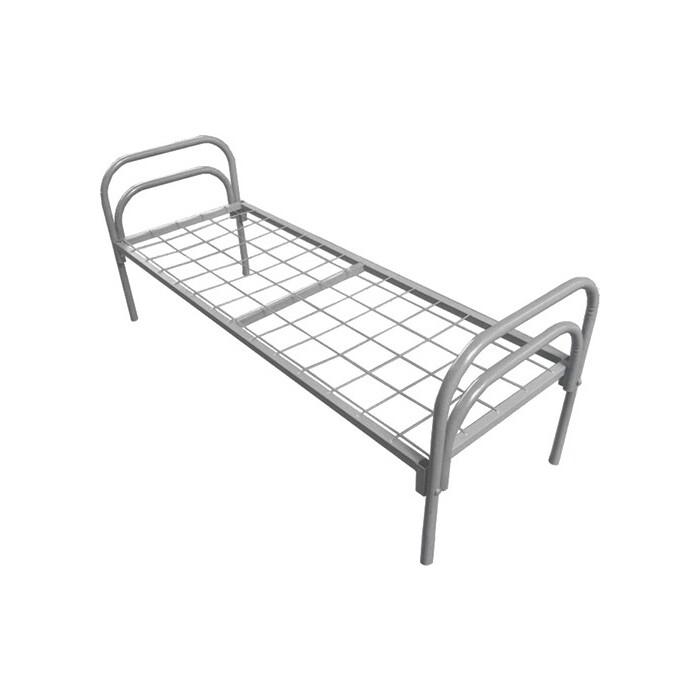 Кровать одноярусная Skyland КС-3 сетка 100х100 усиленная 196х90х80 серый