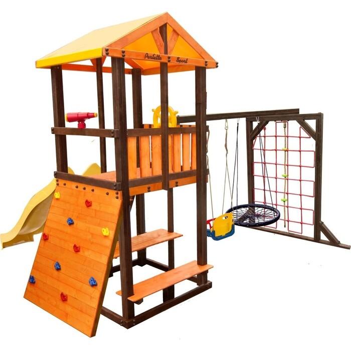 Детский спортивный комплекс PERFETTO SPORT Bari-11 + качели Паутина