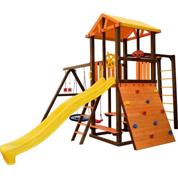Детский спортивный комплекс PERFETTO SPORT Bari-8 + качели Паутина