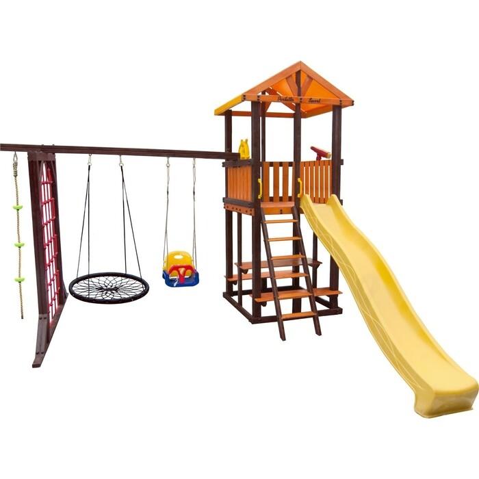 Детский спортивный комплекс PERFETTO SPORT Bari-9 + качели Паутина