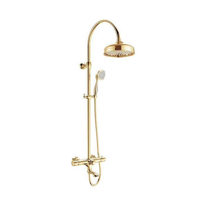 Душевая система Kaiser Aria с термостатом, золото (03182-3)