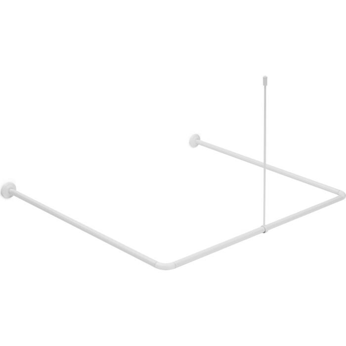 Карниз для ванной Fora алюминевый универсальный белый с потолочным креплением