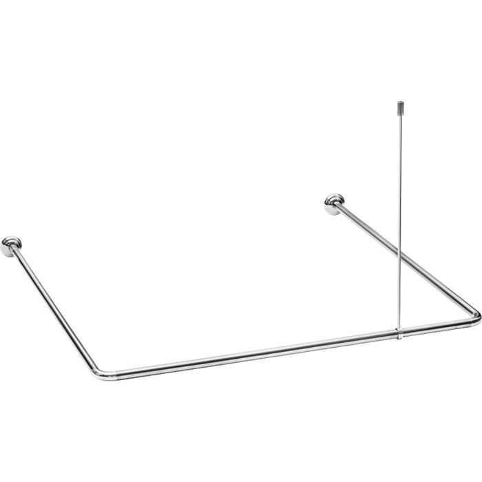 Карниз для ванной Fora алюминевый универсальный хром с потолочным креплением